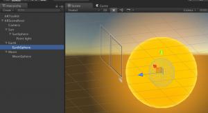 Unity3D solar system scene set up