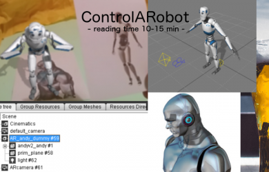 Feature image control a robot
