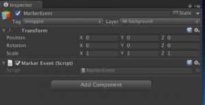 Unity3D MarkerEvent