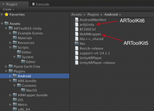 ARToolKit6 import mess in libs