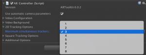 ARToolKit6 simultaneous trackers